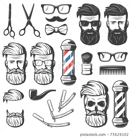 Vintage Barber Elements Set 75629102