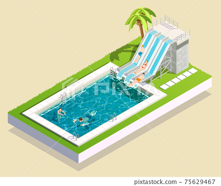 Water Park Pool Composition 75629467