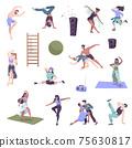 Dancers Doodle Icon Set 75630817