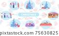 Flat Christmas Infographics 75630825