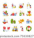 New Year Icon Set 75630827