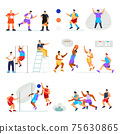 Sports Athletes Icon Set 75630865