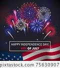 Fireworks Realistic Background 75630907