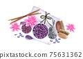 watercolor SPA set. Bath collection of oil, flower, salt, towel, stones, candels, aroma stiks. 75631362