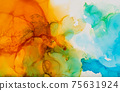 Abstract trendy wallpaper artwork. Ink colors. 75631924