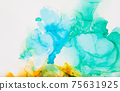 Abstract trendy wallpaper artwork. Ink colors. 75631925