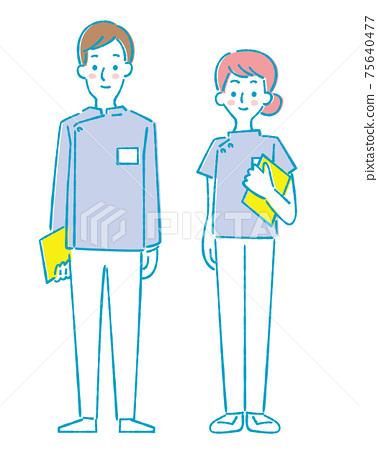 青年男女醫療助手,護士,藥劑師 75640477