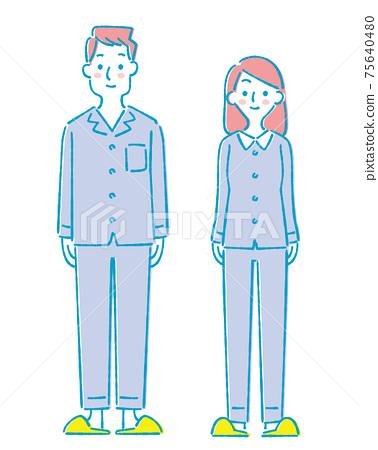 年輕的男性和女性住院病人 75640480
