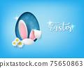 Illustration of Easter day 75650863