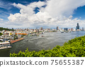 The coastal urban landscape of the port of Kaohsiung in Taiwan 75655387