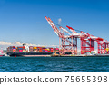 The container ship into the port of Kaohsiung, Taiwan. 75655398