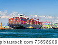 The container ship into the port of Kaohsiung, Taiwan. 75658909