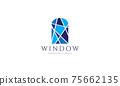 window mosaic blue logo vector symbol icon design illustration 75662135