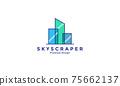 glass building skyscraper logo vector symbol icon design illustration 75662137