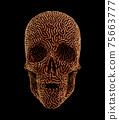 Metalwork Of Carved Human Skull 75663777