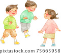 孩子們在外面玩得很好(3人) 75665958