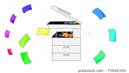 Copier and colored paper 75666389