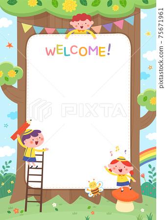 어린이집,유치원,유아원,원아모집,팸플릿 75671961