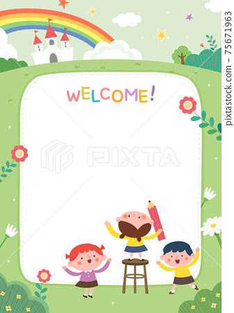 어린이집,유치원,유아원,원아모집,팸플릿 75671963