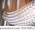 Long metal flexible compensator pipes metal texture 75678852