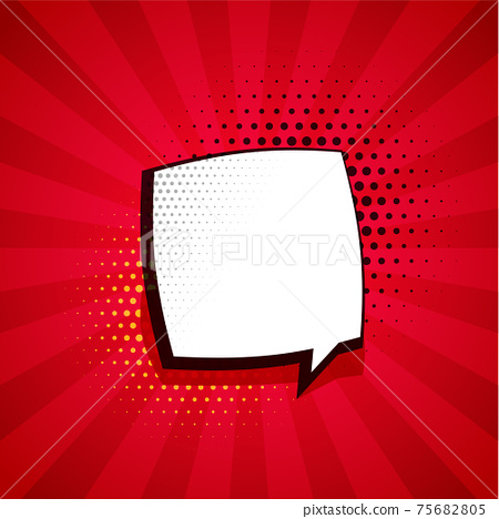 comic background with chat bubble and text space 75682805