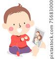 Kid Toddler Identify Family Member Illustration 75683000