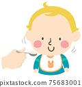 Kid Toddler Boy Gesture Nod Head Yes Illustration 75683001