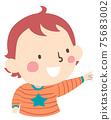 Kid Toddler Boy Gesture Open Hand Point 75683002