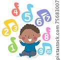 Kid Toddler Boy Black Learn Skills Music Numbers 75683007