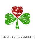 clover with heart. St. Patrick's day celebration   75684413
