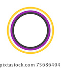 The circle with non binary colors. Isolated Vector Illustration 75686404