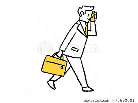 一個男人急著打電話 75690681