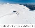 Aerial view of the ski resort in Kolashin 75699633