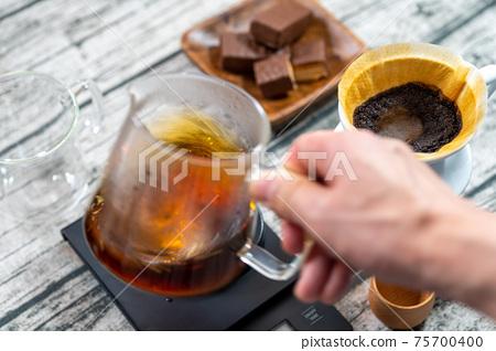 咖啡紙滴水抽取,滴水服務器,攪拌,攪拌,咖啡色,點亮 75700400