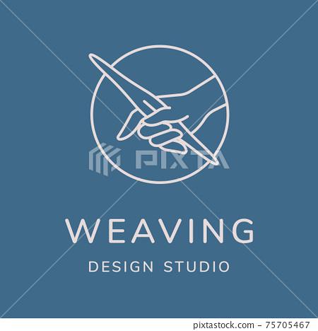 Weaving vector logo design 75705467
