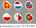 EU Flags Paper Stickers 75707467
