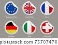 EU Flags Paper Stickers 75707470