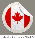 Canada flag on a paper label 75707472