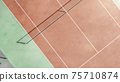 Tennis court from the above. Tennis court texture. Tennis background 75710874