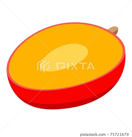 Half mango icon, isometric style 75721679