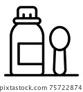 Mixture syrup icon, outline style 75722874