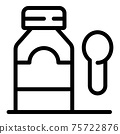 Cure syrup bottle icon, outline style 75722876