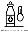 Home medical syrup icon, outline style 75722880
