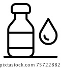 Drop syrup icon, outline style 75722882