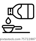Glass syrup bottle icon, outline style 75722887