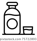 Water cough syrup icon, outline style 75722893