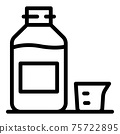 Dose syrup bottle icon, outline style 75722895