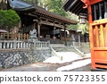 Shizu Shrine in Narai-juku. Close to Torii Pass at the entrance of the post station 75723355