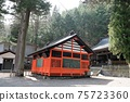 Shizu Shrine in Narai-juku. Close to Torii Pass at the entrance of the post station 75723360