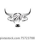Vector of highland cow head design on white background. Farm Animal. Cows logos or icons. Easy editable layered vector illustration.. 75723788